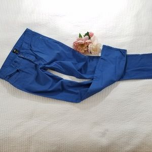 H & M Blue Skinny Pants button fly sz 32